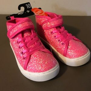Wonder Nation Pink Glitter High Top Sneakers New